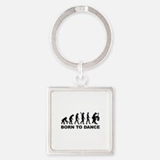 Evolution dancing born to dance Square Keychain