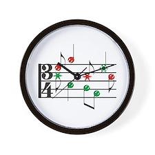 Christmas Music Wall Clock