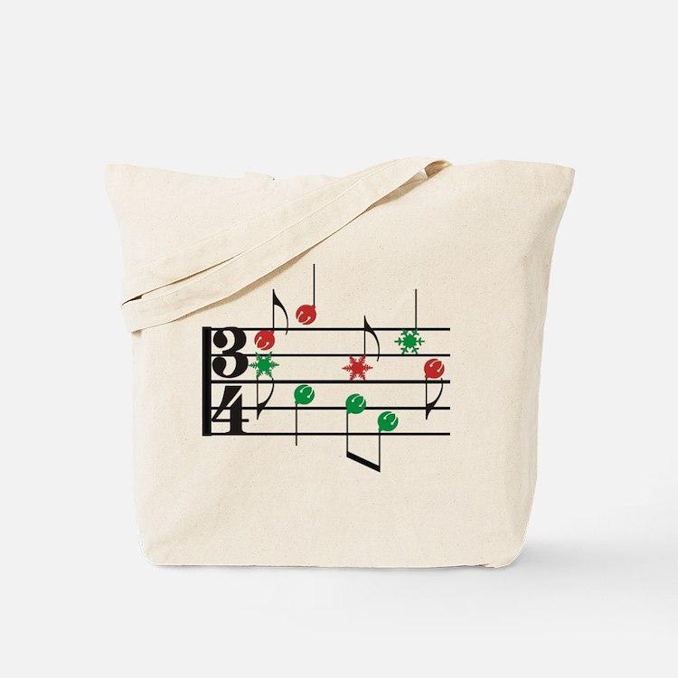 Christmas Music Tote Bag