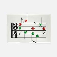 Christmas Music Rectangle Magnet