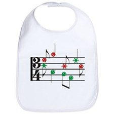 Christmas Music Bib
