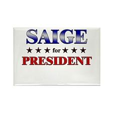 SAIGE for president Rectangle Magnet