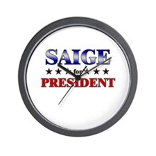 SAIGE for president Wall Clock