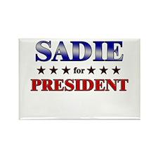 SADIE for president Rectangle Magnet