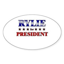 RYLIE for president Oval Decal