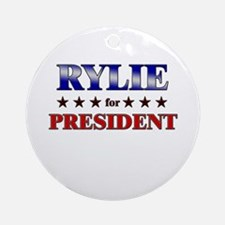 RYLIE for president Ornament (Round)