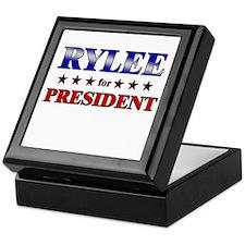 RYLEE for president Keepsake Box