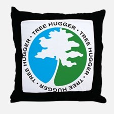 Tree Hugger 2 Throw Pillow