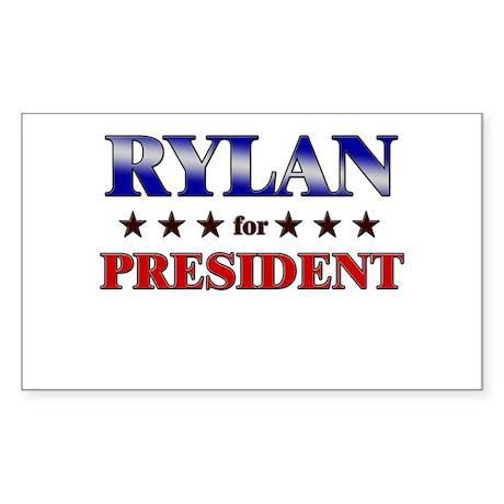 RYLAN for president Rectangle Sticker