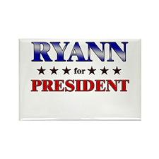 RYANN for president Rectangle Magnet