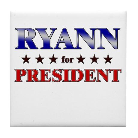 RYANN for president Tile Coaster