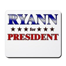RYANN for president Mousepad