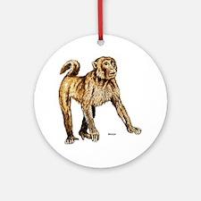 Macaque Monkey Keepsake (Round)