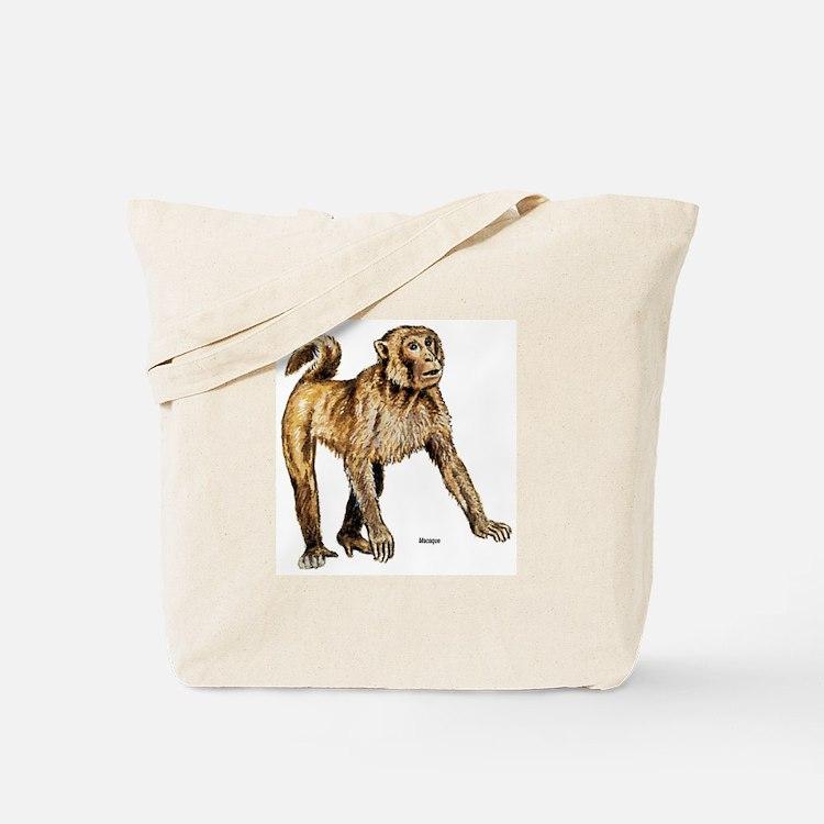 Macaque Monkey Tote Bag