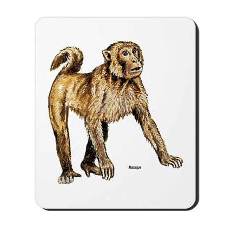 Macaque Monkey Mousepad