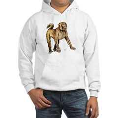 Macaque Monkey (Front) Hoodie
