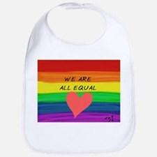 We are all equal heart Bib