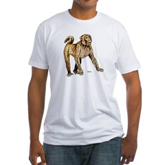 Macaque Monkey (Front) Fitted T-Shirt