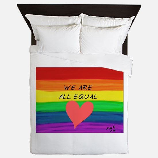 We are all equal heart Queen Duvet