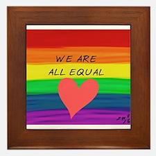 We are all equal heart Framed Tile
