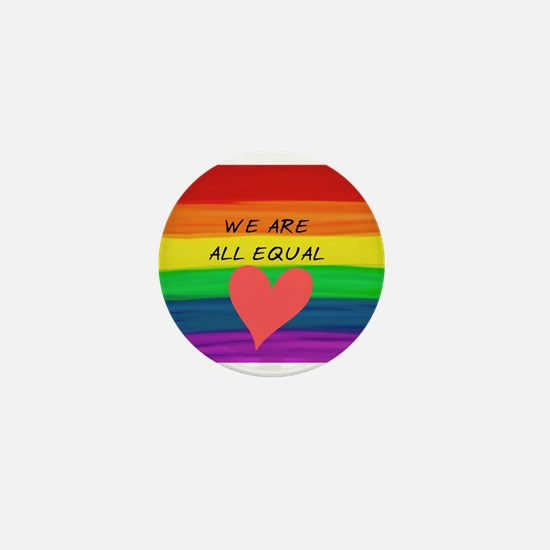 We are all equal heart Mini Button (100 pack)