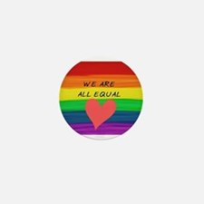 We are all equal heart Mini Button (10 pack)