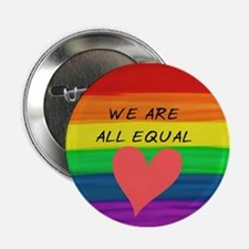 """We are all equal heart 2.25"""" Button (10 pack)"""
