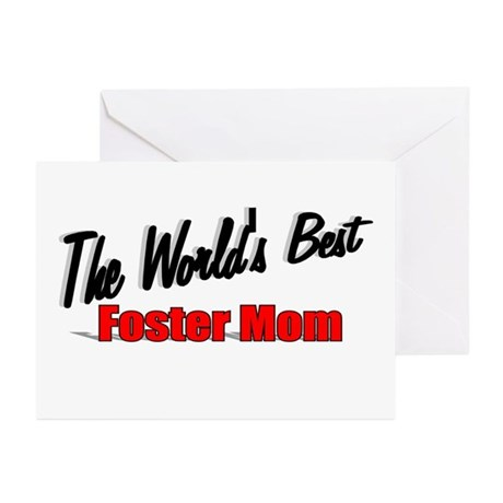 """The World's Best Foster Mom"" Greeting Cards (Pk o"