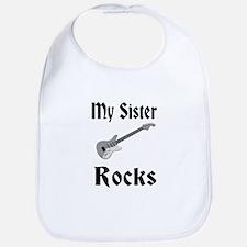 My Sister Rocks Bib