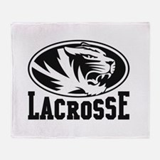 Mizzou Lacrosse Throw Blanket