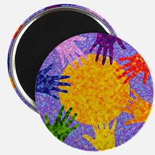 Rainbow Hands Magnet