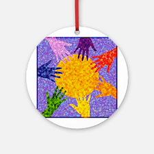 Rainbow Hands Ornament (Round)