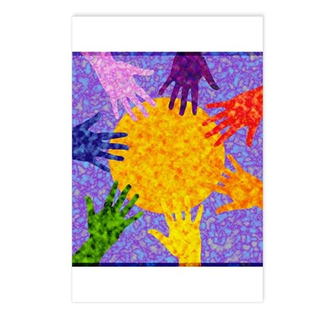 Rainbow Hands Postcards (Package of 8)