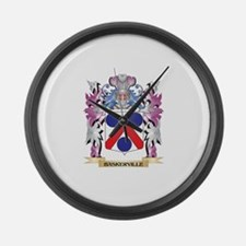 Baskerville Coat of Arms (Family Large Wall Clock