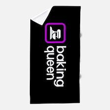 Baking Queen (Purple) Beach Towel
