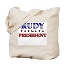 RUDY for president Tote Bag