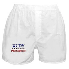RUDY for president Boxer Shorts