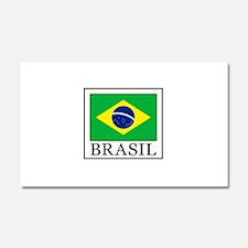 Brasil Car Magnet 20 x 12