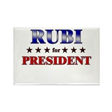 RUBI for president Rectangle Magnet