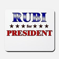 RUBI for president Mousepad