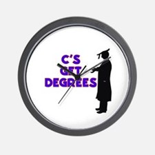 C's Get Degrees Wall Clock
