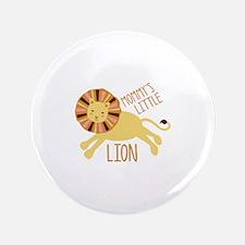 Mommys Little Lion Button