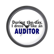Dress Up Like An Auditor Wall Clock