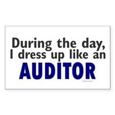 Dress Up Like An Auditor Rectangle Decal