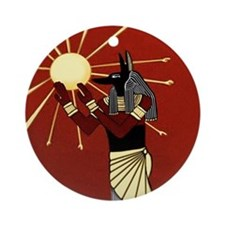 Anubis Ornament (Round)