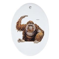 Orangutan Ape Keepsake (Oval)