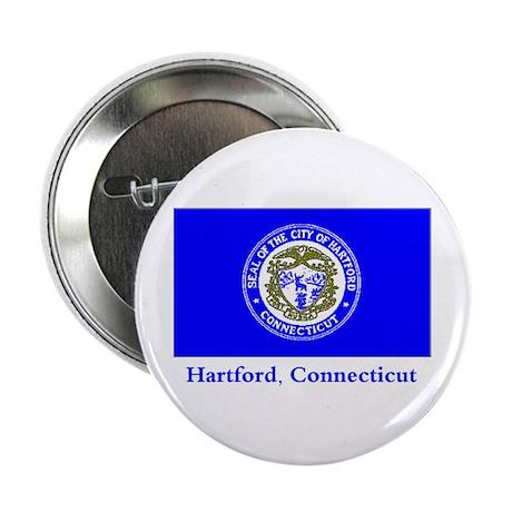 "Hartford CT Flag 2.25"" Button (10 pack)"