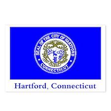 Hartford CT Flag Postcards (Package of 8)