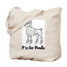 P is for Poodle Tote Bag