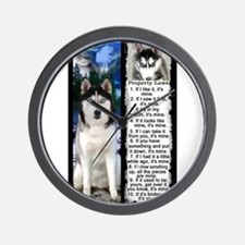 Siberian Husky Dog Laws Rules Wall Clock